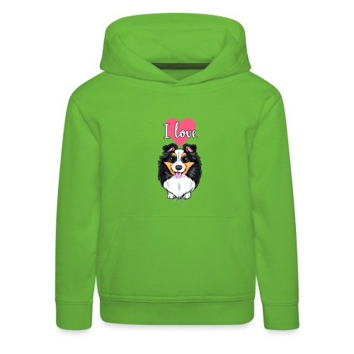Sheltie Dog Love - Kids' Premium Hoodie