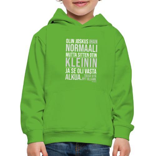 Vasta Alkua Kleini - Lasten premium huppari