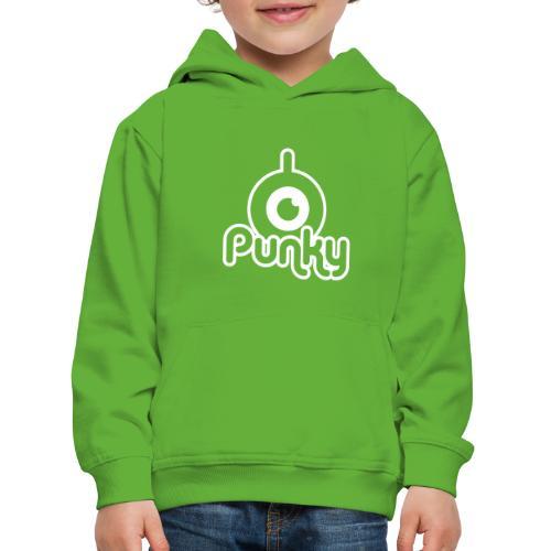 Punky Label (White) - Pull à capuche Premium Enfant