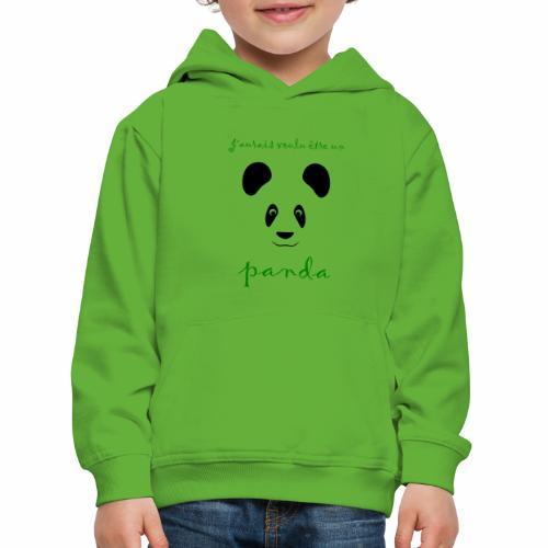 J'aurais voulu être un panda - Kids' Premium Hoodie