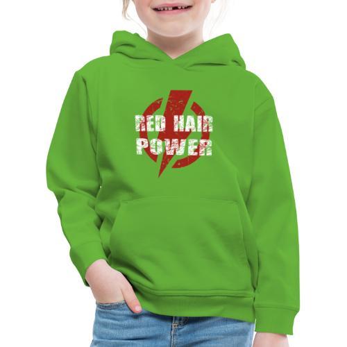 Red hair power - Kinderen trui Premium met capuchon