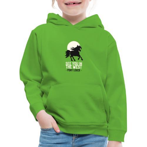 Silhouet pony design voor ponyliefhebbers - Kinderen trui Premium met capuchon