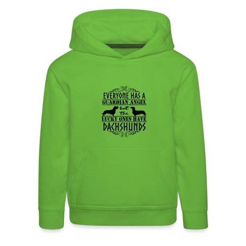 Dachshund WH SH Angels - Kids' Premium Hoodie