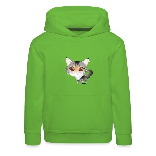 Kat - Kinderen trui Premium met capuchon