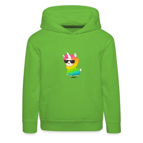 Regenboog animo - Kinderen trui Premium met capuchon