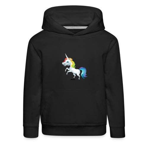Regenboog eenhoorn - Kinderen trui Premium met capuchon