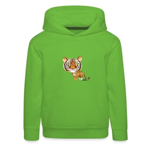 Tijger - Kinderen trui Premium met capuchon