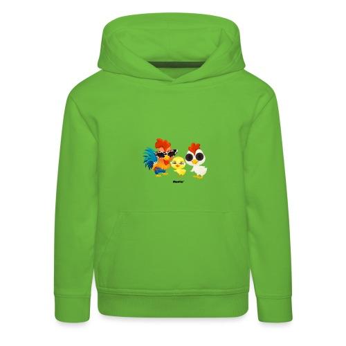 Huhn - von Momio Designer Emeraldo. - Kinder Premium Hoodie