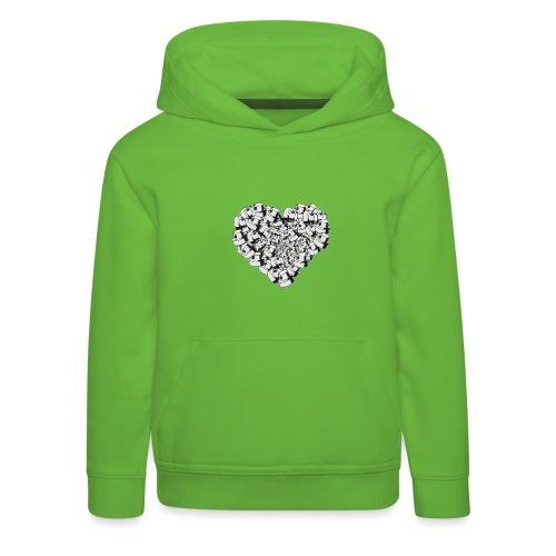 heart for art street love - Premium hættetrøje til børn