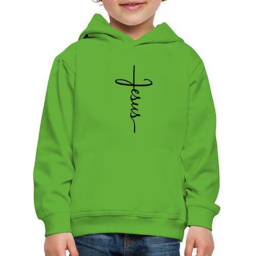 Jesus Kors - Premium hættetrøje til børn