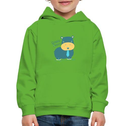 Baby hippo - Sudadera con capucha premium niño