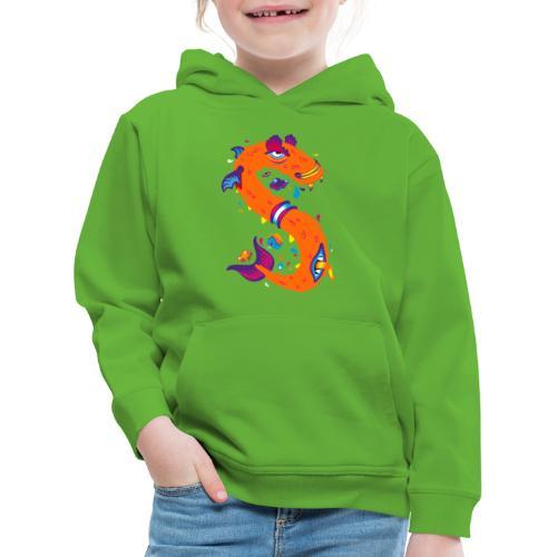 Lettre S comme Snake - Pull à capuche Premium Enfant