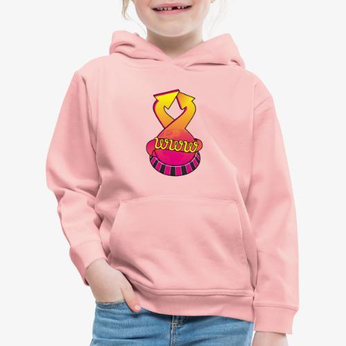 UrlRoulette logo - Kids' Premium Hoodie