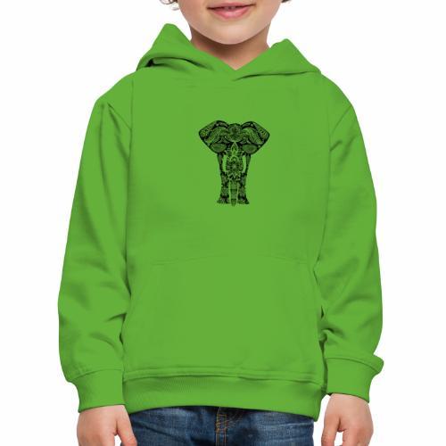 Ażurowy słoń - Bluza dziecięca z kapturem Premium