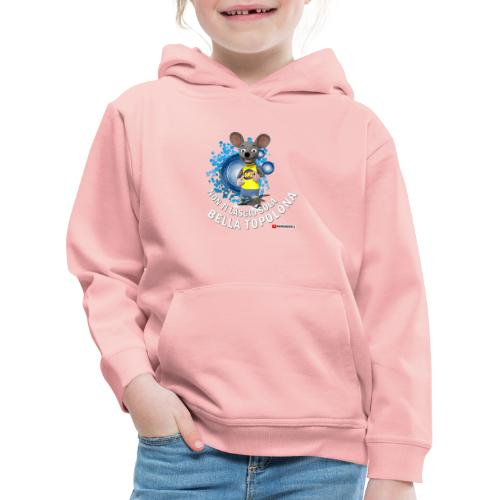 Bella Topolona testo Bianco - Felpa con cappuccio Premium per bambini