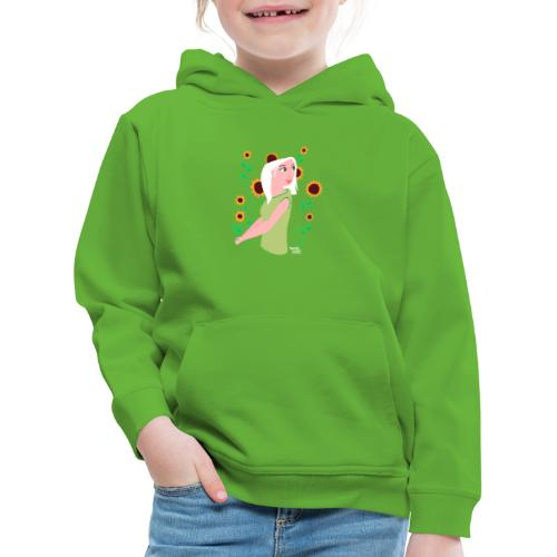tournesols avec fille - Pull à capuche Premium Enfant