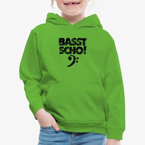 BASST SCHO! Bass Bassschlüssel Bassisten - Kinder Premium Hoodie
