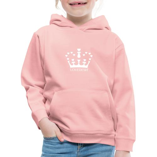 White Lovedesh Crown, Ethical Luxury - With Heart - Kids' Premium Hoodie