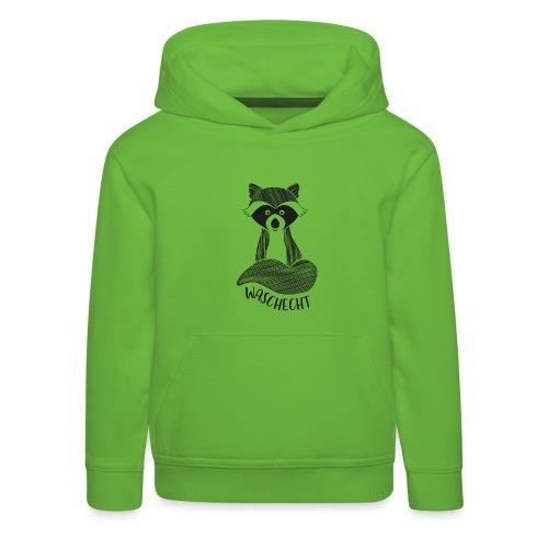 Waschbär waschecht - Kinder Premium Hoodie