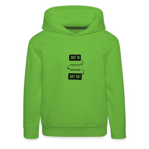 shitinshitoutblack - Pull à capuche Premium Enfant