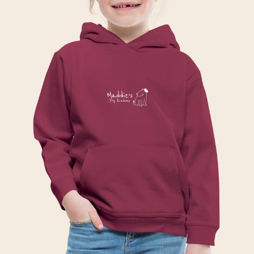 Académie des chiens de Maddie (blanc) - Pull à capuche Premium Enfant