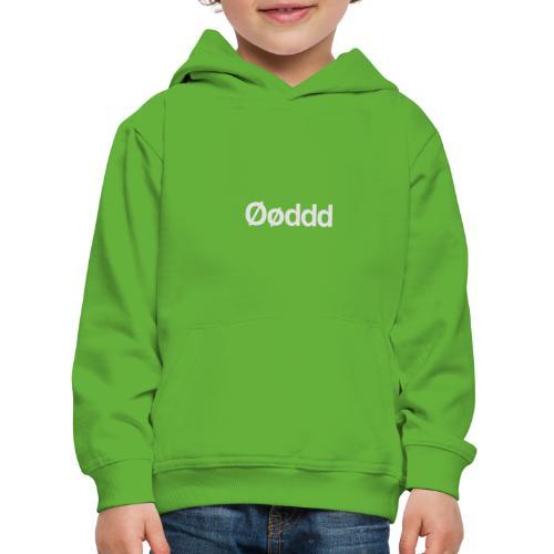 Øøddd (hvid skrift) - Premium hættetrøje til børn