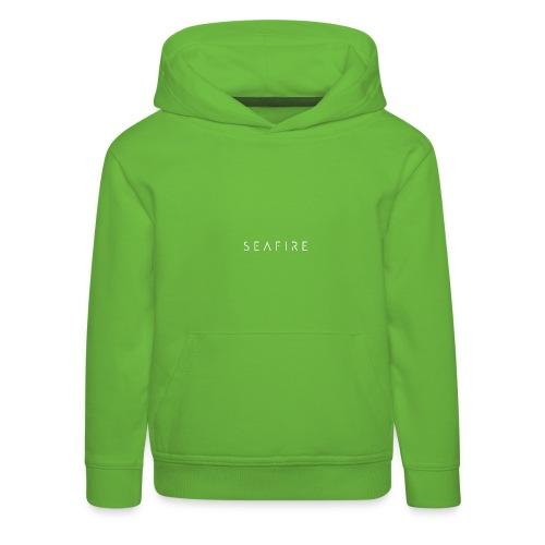 Seafire logo WHITE - Kinderen trui Premium met capuchon