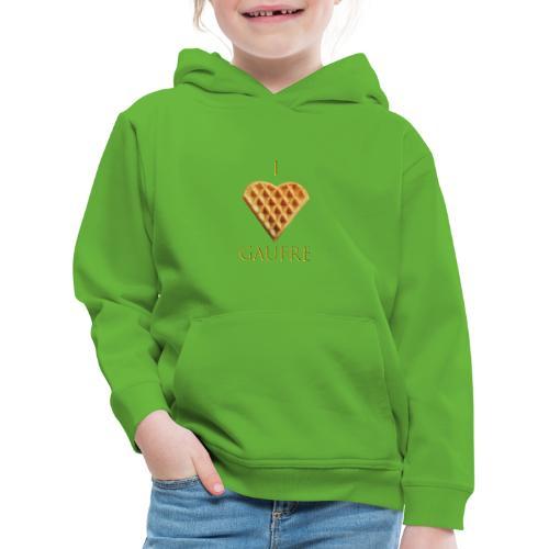 i love gaufre - Pull à capuche Premium Enfant