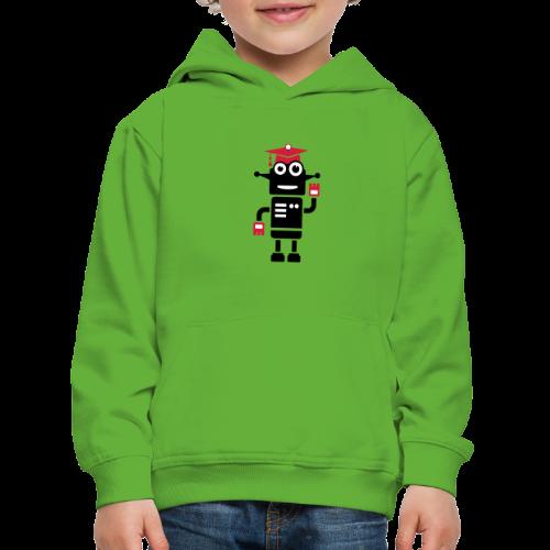 Roboter mit Doktorhut Geschenk zur Promotion - Kinder Premium Hoodie
