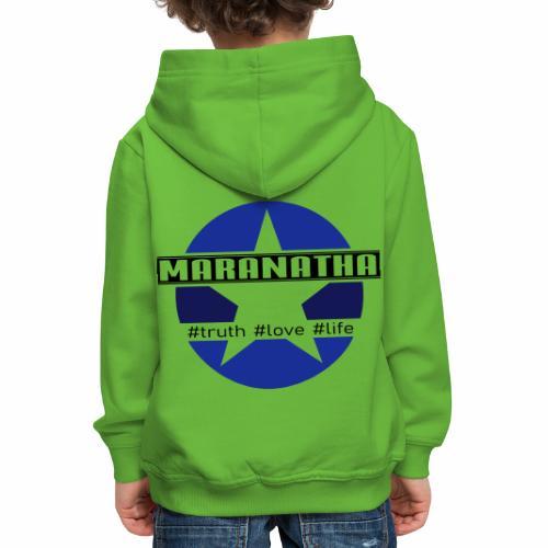 maranatha blau-braun - Kinder Premium Hoodie
