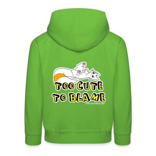 Too Cute To Blame - Kids' Premium Hoodie