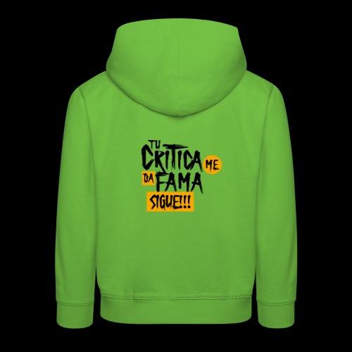 CRITICA - Sudadera con capucha premium niño