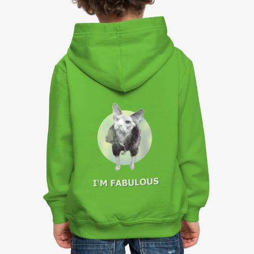 I'm fabulous with the Cat - Kinder Premium Hoodie