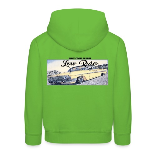 Lowrider impala 1963 vato loco west coast tshirt - Kids' Premium Hoodie