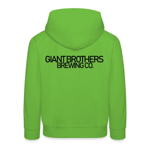 Giant Brothers Brewing co SVART - Premium-Luvtröja barn
