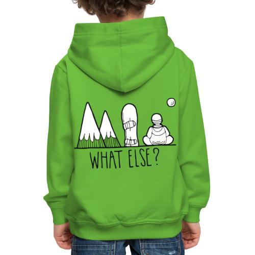 snowboard et montagnes what else - Pull à capuche Premium Enfant