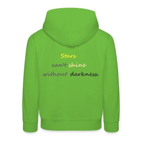 Stars can not shine without darkness - Kids' Premium Hoodie