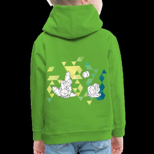 Geometric crystals - Kids' Premium Hoodie