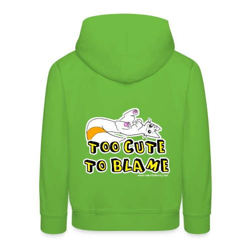 Too Cute To Blame - Kids' Premium Hoodie