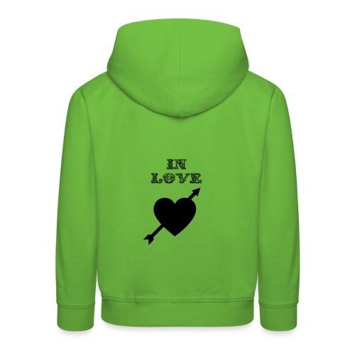 I'm In Love - Felpa con cappuccio Premium per bambini