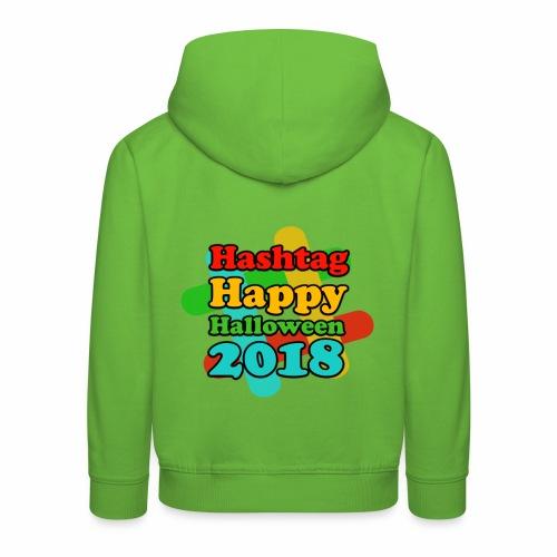 hashtag happy halloween 2018 - Pull à capuche Premium Enfant
