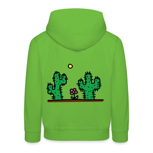 Cactus - Felpa con cappuccio Premium per bambini