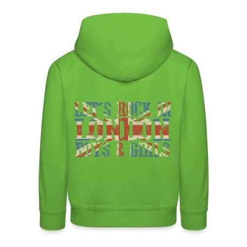 LET'S ROCK IN LONDON - Felpa con cappuccio Premium per bambini