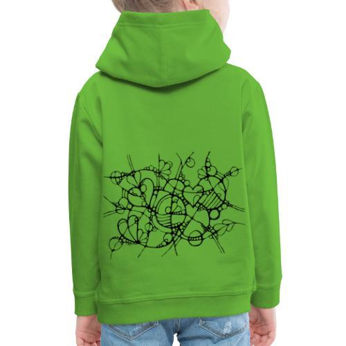 Abstrakte Kunst Neuro Art LOVE IS CRAZY 3 - Kinder Premium Hoodie