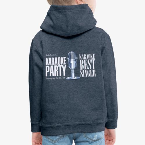 Karaoke party - Sudadera con capucha premium niño