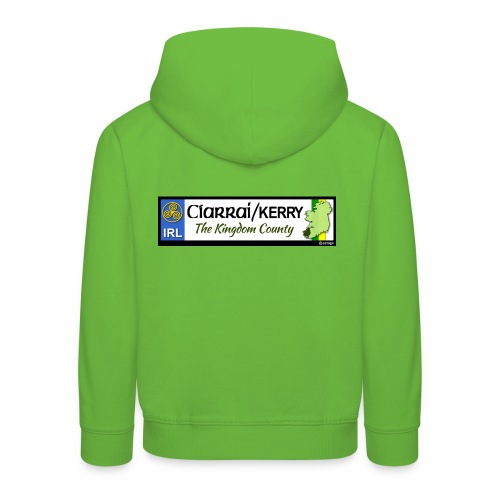 CO. KERRY, IRELAND: licence plate tag style decal - Kids' Premium Hoodie