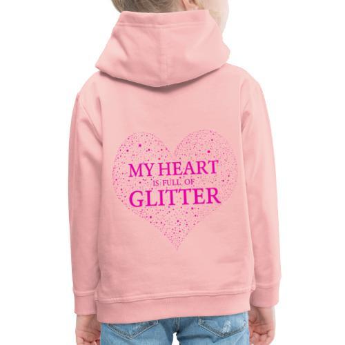 Herz Glitzer - Kinder Premium Hoodie