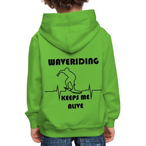 Wellenreiter mit EKG - Kinder Premium Hoodie