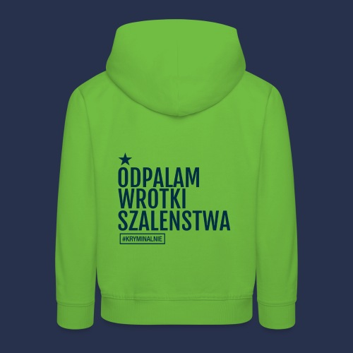 WROTKI SZALENSTWA - napis ciemny - Bluza dziecięca z kapturem Premium