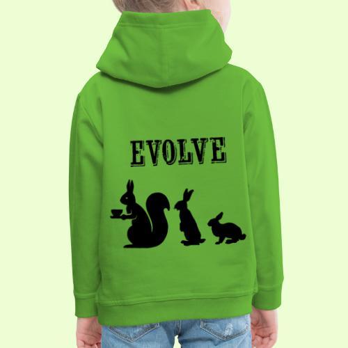 EvolveBunny - Kinderen trui Premium met capuchon